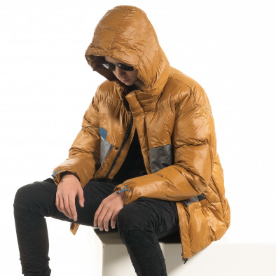 Мъжка пухенка с качулка и големи джобове it091219-15 3