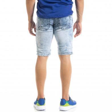 Slim fit мъжки къси дънки Washed сини it050620-11 4