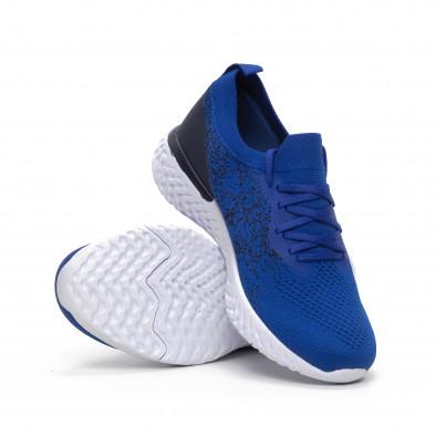 Меки мъжки маратонки син меланж it240419-11 4