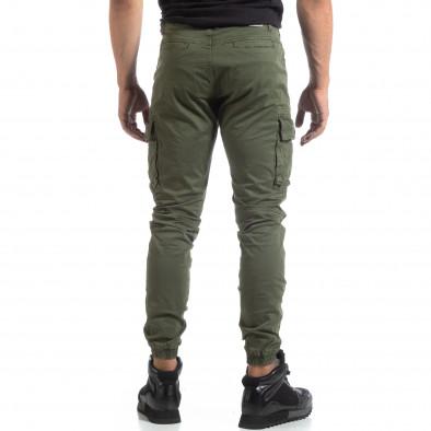 Мъжки зелен рокерски панталон с карго джобове it170819-4 4