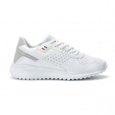 Ултралеки мъжки маратонки в бяло  it250119-16 2