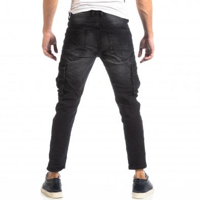 Мъжки черни дънки Cargo it261018-6 5