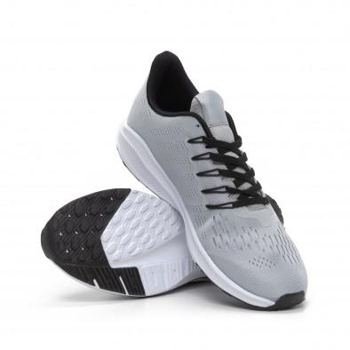 Леки мъжки маратонки светлосив текстил it240419-22 4