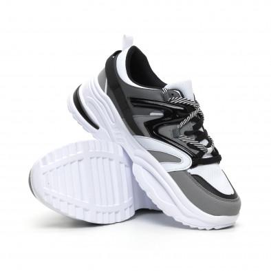Сиви мъжки маратонки Chunky дизайн it260919-33 4