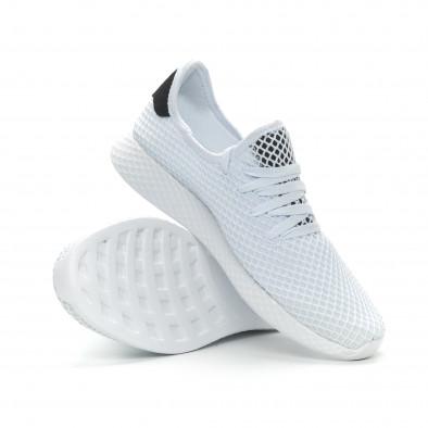Ултралеки мъжки маратонки Mesh в бяло it150319-22 4