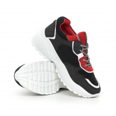 Олекотени дамски маратонки в червено и черно it130819-61 4