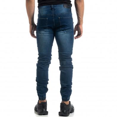 Мъжки дънки Biker Jogger с кръпки it041019-24 4