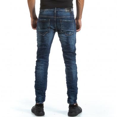 Мъжки намачкани сини дънки с прокъсвания it070921-1 3