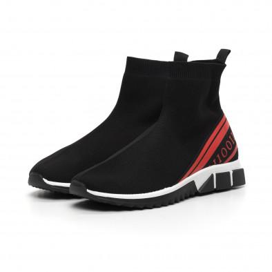 Мъжки маратонки тип чорап червен кант it260919-12 4