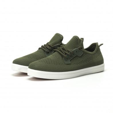 Мъжки леки спортни обувки в милитъри зелено it250119-15 3
