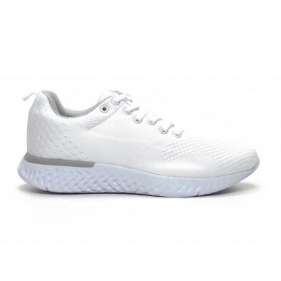 Плетени мъжки бели маратонки it240419-13 2