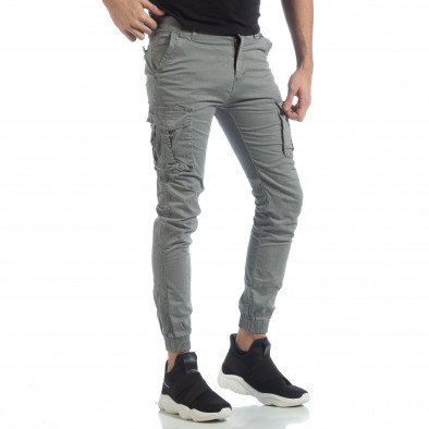 Мъжки Jogger карго панталон в сиво it040219-36 2