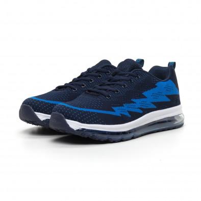 Сини плетени мъжки маратонки с въздушна камера MAX it260919-42 3