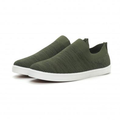 Мъжки гуменки тип чорап зелен меланж it150319-16 3