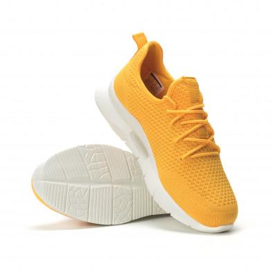 Мъжки леки жълти маратонки Hole design it250119-25 4