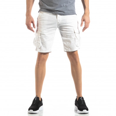 Мъжки карго бермуди в бяло it210319-42 3