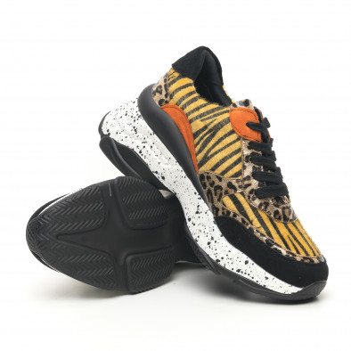 Дамски маратонки Patchwork дизайн с леопард it281019-22 4