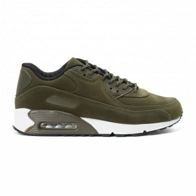 Велурени мъжки Air маратонки в зелено it140918-29 2