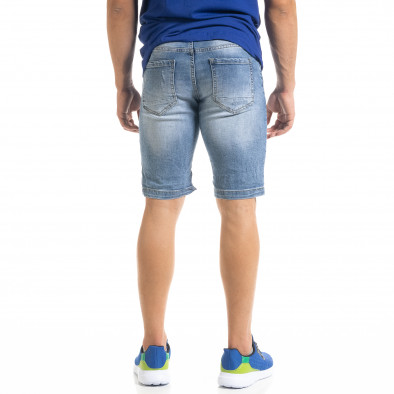 Мъжки сини къси дънки с прокъсвания it050620-9 3