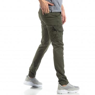 Мъжки панталон тип карго в зелено it210319-23 3