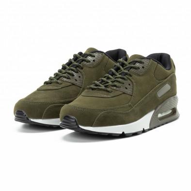 Велурени мъжки Air маратонки в зелено it140918-29 3