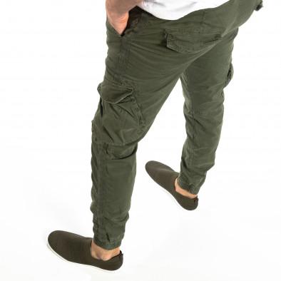 Мъжки Cargo Jogger в милитъри зелено it210319-17 2