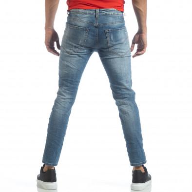Мъжки сини дънки с големи прокъсвания it040219-22 4
