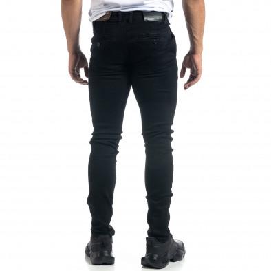 Мъжки черни дънки Slim fit it041019-25 4
