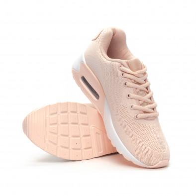 Фини розови дамски маратонки с въздушна камера it240419-33 4