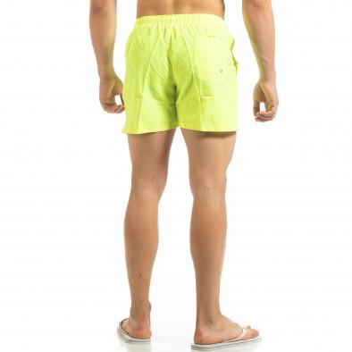 Basic мъжки бански в неоново жълто it090519-79 3
