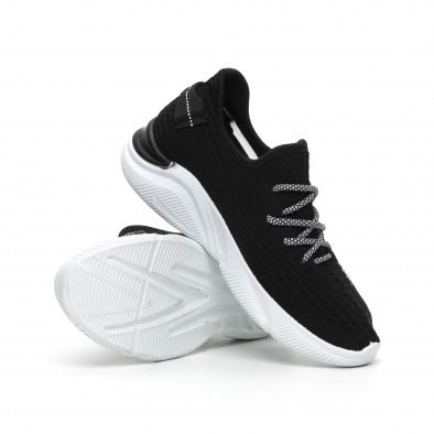 Плетени мъжки черни маратонки с мрежа it260919-4 5
