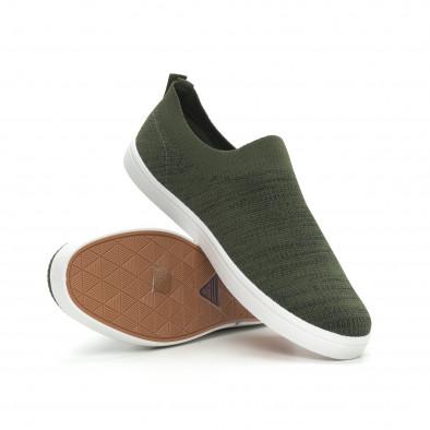 Мъжки гуменки тип чорап зелен меланж it150319-16 4