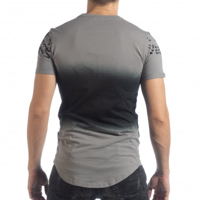 Мъжка тениска в сиво с преливане it040219-121 4