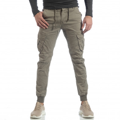 Мъжки Cargo Jogger панталон в сиво-бежово it040219-29 3