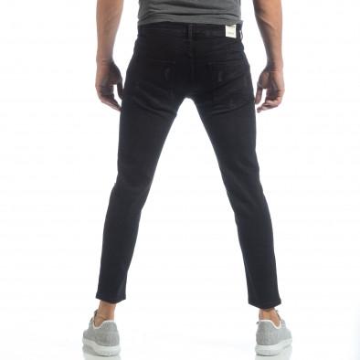 Еластични мъжки дънки Slim fit в черно it040219-19 4