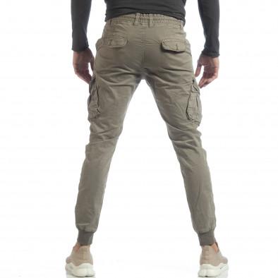 Мъжки Cargo Jogger панталон в сиво-бежово it040219-29 4