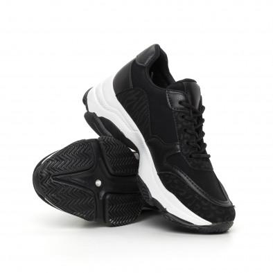 Дамски черни маратонки с обемна подметка it130819-67 4