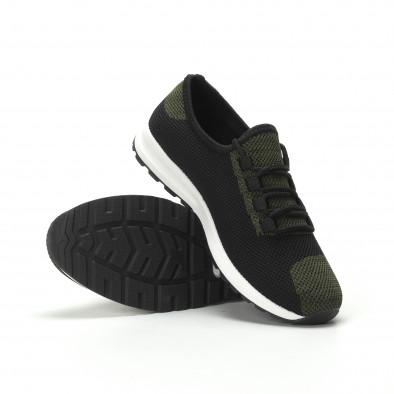 Леки текстилни мъжки маратонки в зелен меланж it250119-13 4