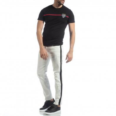 Ултрамодерни мъжки дънки в бяло с кантове it040219-26 2