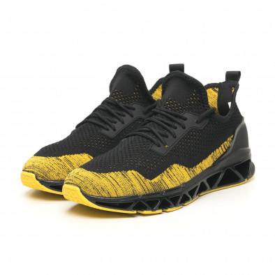 Мъжки маратонки Knife в черно и жълто it251019-23 4
