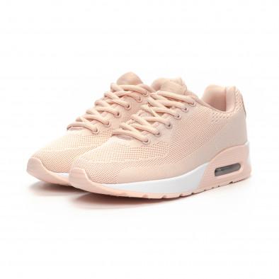 Фини розови дамски маратонки с въздушна камера it240419-33 3