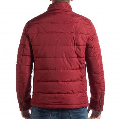 Червено ватирано шушляково яке с права яка it250918-84 4