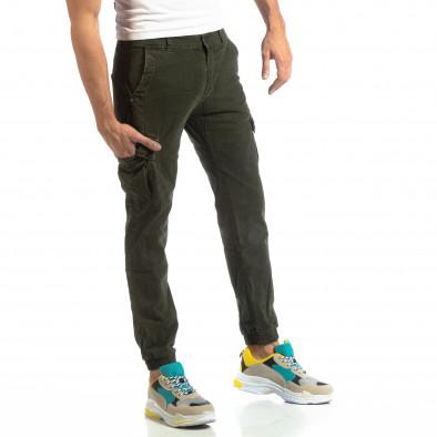 Зелен карго панталони с ластик на глезена it261018-22 2