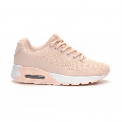 Фини розови дамски маратонки с въздушна камера it240419-33 2