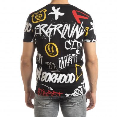 Мъжка черна тениска с графити it150419-63 3