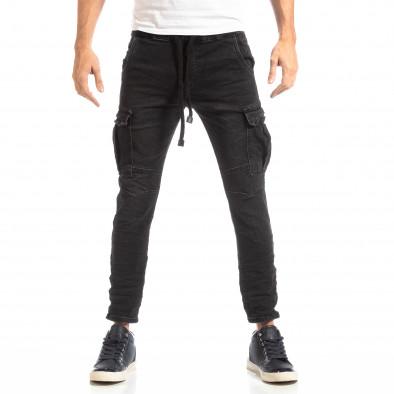 Мъжки Cargo Jeans в черно it261018-17 3