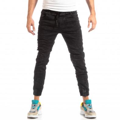 Мъжки дънков Jogger в черно it261018-12 2