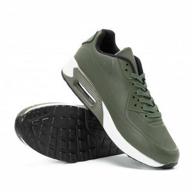 Зелени мъжки маратонки с въздушна камера и перфорации it140918-3 4