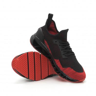 Леки мъжки маратонки Knife в черно и червено it150319-25 5