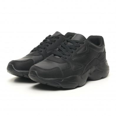 Леки мъжки маратонки All black it251019-13 3